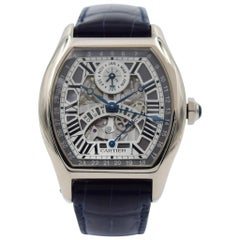 Cartier Tortue Perpetual Calendar in 18k White Gold W1580004, Full Box / Papers