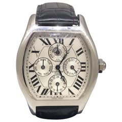 Cartier Tortue Platinum Perpetual Calendar Automatic Men's Watch W1540551