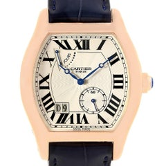 Cartier Tortue Privee Rose Gold 8 Day Power Reserve Men's Watch W1545851