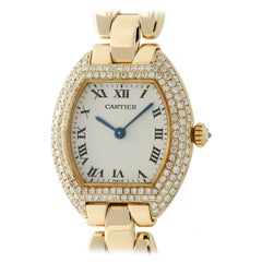 Cartier Tortue Unknown, White Dial, Certified and Warranty