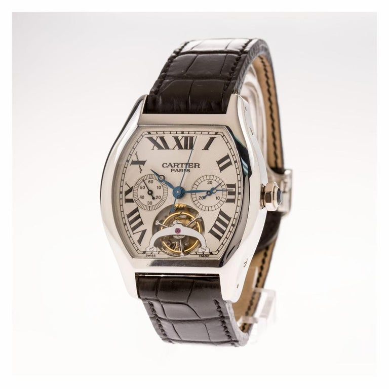 Contemporary Cartier Tortue W1545751, Certified and Warranty For Sale