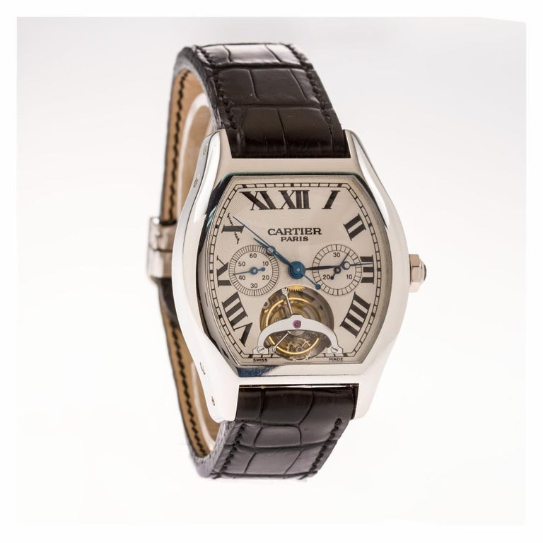 Men's Cartier Tortue W1545751, Certified and Warranty For Sale