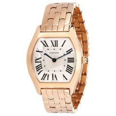 Cartier Tortue W1556366 Women's Watch in 18 Karat Rose Gold
