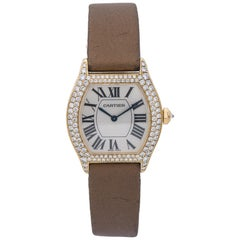 Cartier Tortue WA503751, Silver Dial, Certified and Warranty