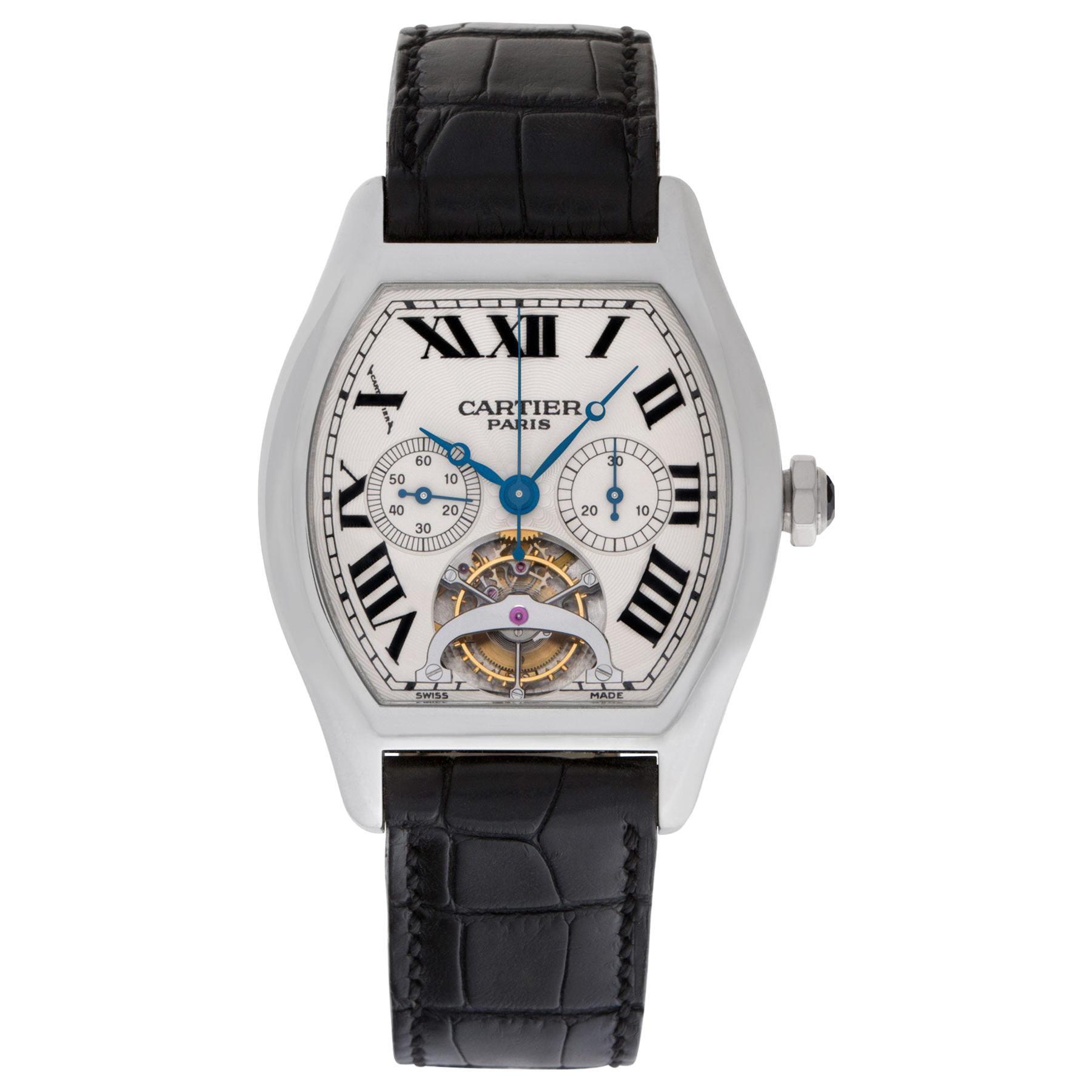 Cartier Tortue XL Platinum Tourbillon Chronograph Monopoussoir
