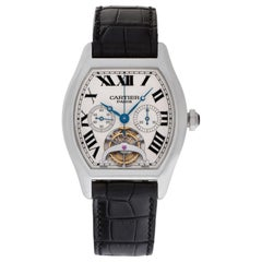 Cartier Tortue XL Platinum Tourbillon Chronograph Monopoussoir
