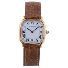 Cartier Tortue Yellow Gold Wristwatch