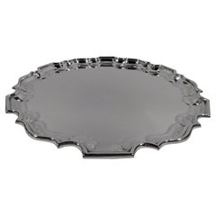 Cartier Traditional Sterling Silver Georgian Piecrust Tray