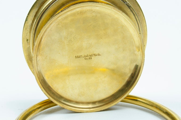 Mid-20th Century Cartier Travel Clock 'on Table' For Sale