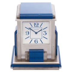 Cartier Travel Desk Clock 0 0 Unisex 0 Cartier Paris 'Mystery' Silver Plated Des