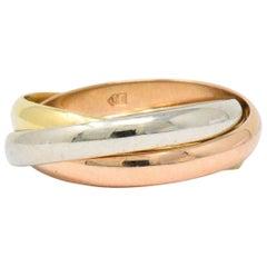 Cartier Tri-Color 18 Karat Gold Trinity Ring