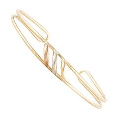 Cartier Tri-Color Bangle Bracelet