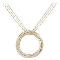 Cartier Tri-Color Diamond Trinity De Cartier Large Necklace N7059300
