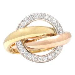 Cartier Trinity 'Crash' Diamond Ring