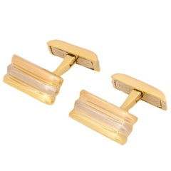 Cartier Tri-Color Trinity De Cartier Gold Cufflinks