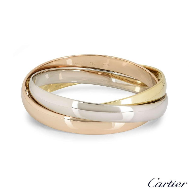 Cartier Tri-Colour Gold Trinity Bracelet In Excellent Condition In London, GB