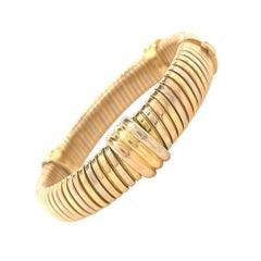Cartier Tricolor Tubogas 18 Karat Gold Bracelet