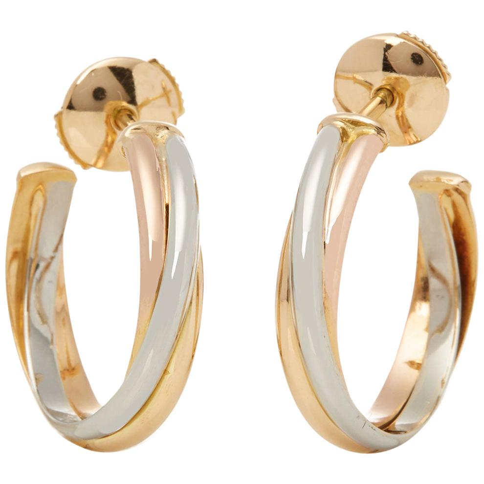 Cartier Trinity 18 Carat Gold Hoop Earrings