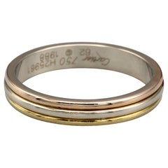 Cartier Trinity 18 Karat 3 Color Gold Men's Band Ring