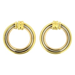 Cartier Trinity 18 Karat Gold Ladies Earrings