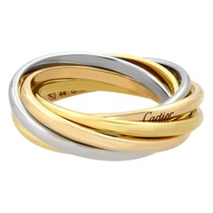 Cartier Trinity 18 Karat Three-Tone Gold 7 Band Rolling Ring