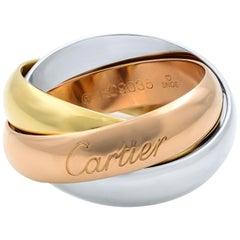 Cartier Trinity 18 Karat White Yellow add Rose Gold LM Ring