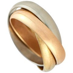 Cartier Trinity 18 Karat White, Yellow and Rose Gold Ring