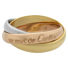 Cartier Trinity 18 Karat White Yellow Rose Gold Classic Ring