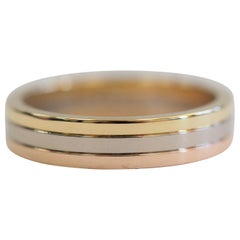 Cartier Trinity 18 Karat White Yellow Rose Gold Ring Band