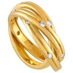 Cartier Trinity 18 Karat Yellow Gold Diamond Ring