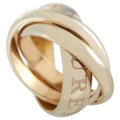 Cartier Trinity 18 Karat Yellow Gold Ring