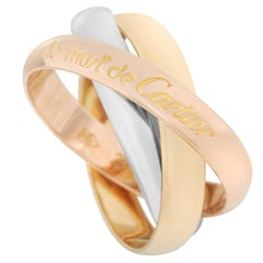 Cartier Trinity 18 Karat Yellow, Rose and White Gold Ring