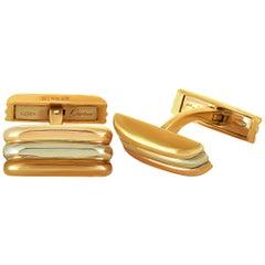 Cartier Trinity 18 Karat Yellow, White and Rose Gold Cufflinks