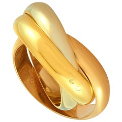 Cartier Trinity 18 Karat Yellow/White/Rose Gold Band Ring