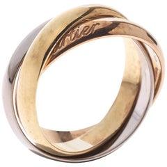 Cartier Trinity 18K Three Tone Gold Band Ring Size 52