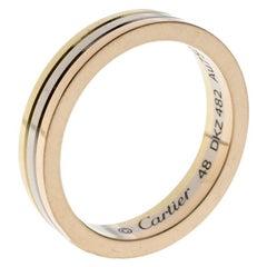 Cartier Trinity 18K Three Tone Gold Wedding Band Ring Size 48