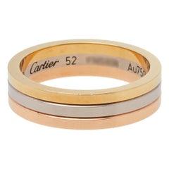Cartier Trinity 18K Three Tone Gold Wedding Band Ring Size 52