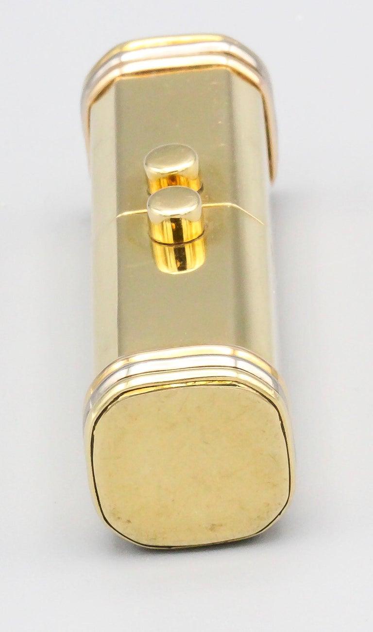 Cartier Trinity 18 Karat Tri-Color Gold Sliding Rectangular Pillbox For Sale 1