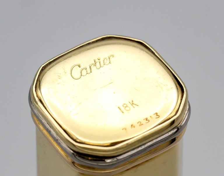 Cartier Trinity 18 Karat Tri-Color Gold Sliding Rectangular Pillbox For Sale 5
