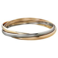 Cartier Trinity 18K White, Yellow and Rose Gold Bracelet