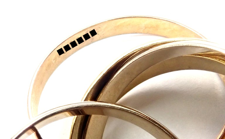 Cartier Trinity 5 Band Tricolor Gold Ring For Sale 6