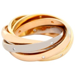 Cartier Trinity 6-Band Ring with Diamonds