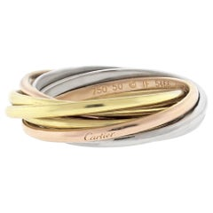 Cartier Trinity 7 Band Tricolor Gold Band-Ring