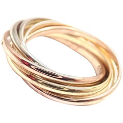 Cartier Trinity 7 Band Tricolor Gold Ring