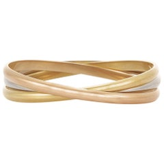 Cartier Trinity Bangle Bracelet 4.50 Millimeter Width Each