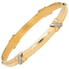 Cartier Trinity Bangle Bracelet circa 1995 18 Karat Yellow Gold Vintage Jewelry