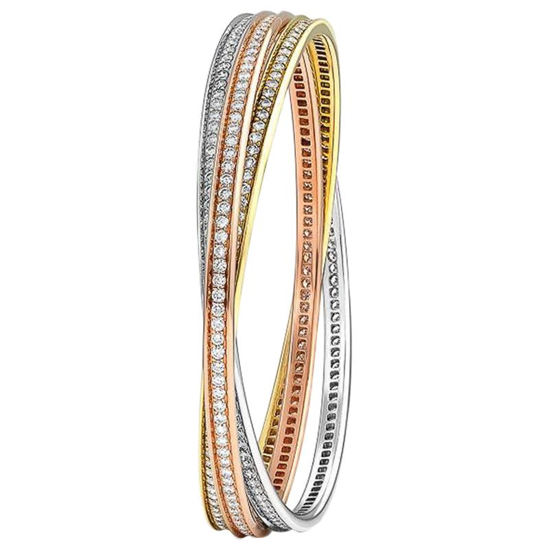 Cartier Trinity Bangle with Diamonds