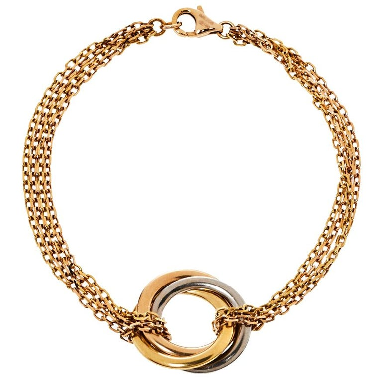 Cartier Trinity de Cartier 18K Three Tone Gold Bracelet For Sale