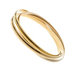 Cartier Trinity De Cartier 18k Three Tone Gold Rolling Bangle Bracelet