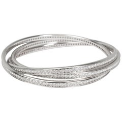 Cartier Trinity Diamond Bangle in 18 Karat White Gold 6.05 Carat